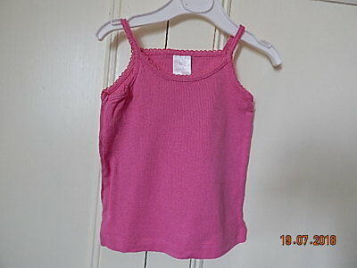 Evie Angel Baby Girls Pink Stretchy Vest Top 12-18 M 100% Cotton