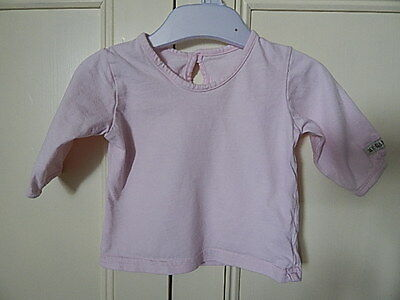 Marks & Spencer Baby Girls Pink Long Sleeve My Garden Top Up To 3 Months Cotton