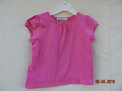 George Baby Girls Pink Top 18-24 Months With Pretty Flower 100% Cotton