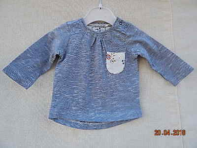 Next Baby Girls Blue Top With Cute Pocket On Front Up To One Month Cotton