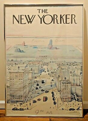 Vintage Saul Steinberg The New Yorker Poster from 1976