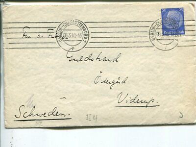 Germany censor cover to Sweden 8.3.1940