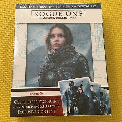 NEW Rogue One A STAR WARS Story Target Exclusive 3D + Blu-ray+ DVD + Digital