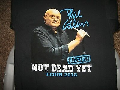 Phil Collins  Not Dead Yet  2018 Concert Tour  T Shirt  Large