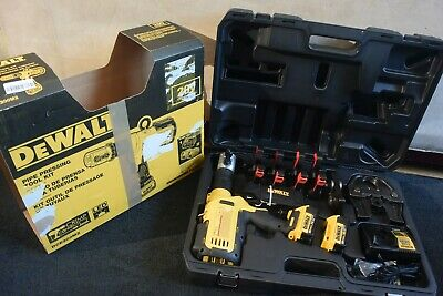 "Dewalt DCE200M2X Crimper Set 6 Ridgid PEX Jaws 1/2"" Through 2"" RP 330 340"