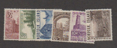 Norfolk Is. - 1953 Definitive Set. Sc. #13-8 SG #13-8. Mint
