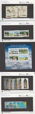 Norfolk Is. - 1983 Commemorative Sets & S/S. Sc. #306-22. SG #300-17. Mint NH