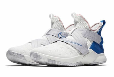 newest 49f18 4fbef NEW NIKE LEBRON Soldier XII 12 Basketball Wht Blue Men 10.5 AO2609-101  PROVENCE