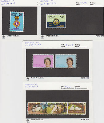 Norfolk Is. - 1980 Commemorative Sets. Sc. #254//276. SG #234//254. Mint NH