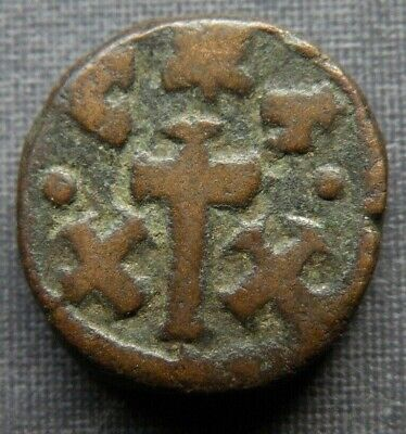 Medieval Coin Bronze Crusades Cross Christ Byzantine Ancient Antique 700-1000AD