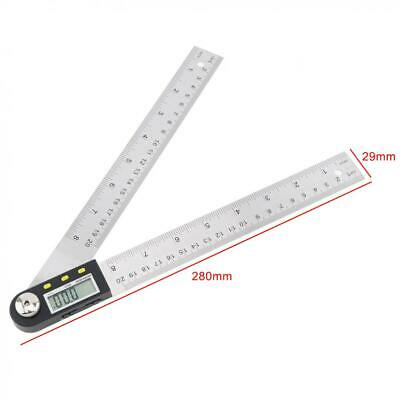 200mm / 0 - 360° Stainless Steel Digital Display Angle Ruler with LCD Screen