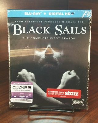 Black Sails:The Complete First Season(Blu-ray+Digital)Lenticular-NEW-Free S&H