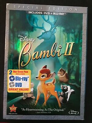 Bambi II (Blu-ray/DVD, 2011, 2-Disc Combo, Special Edition) BRAND NEW SEALED