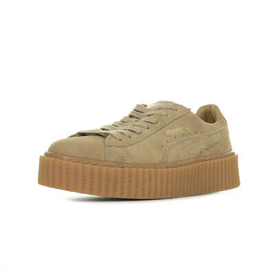3a8066def01 Chaussures Baskets Puma femme Fenty Rihanna Suede Creepers taille Marron  Cuir