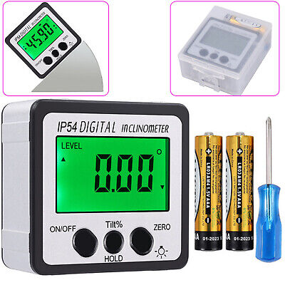 Digital LCD Level Box Protractor Inclinometer 0-360° Angle Finder Bevel Gauge US