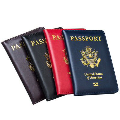 US Travel Passport Cover ID Credit Card Holder Case Passport Wallet For USA