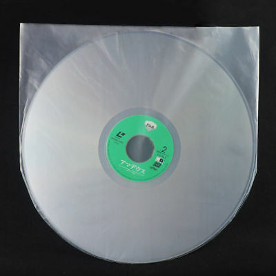 100Pcs 12'' LP LD Music Vinyl Record Antistatic Clear Plastic Cover Inner Sleeve