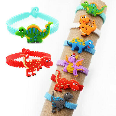 Lot of 2/10pcs Unicorn Dinosaur Silicoen Bracelet Kids Wedding Party Favors Gift