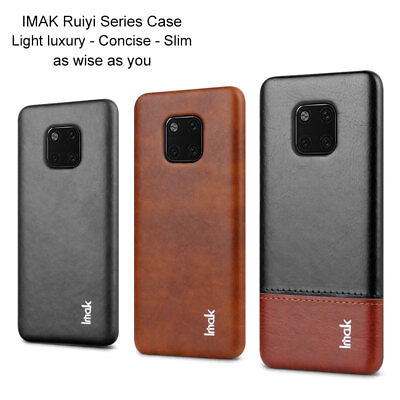 Imak For Huawei Mate 20 Pro Lite, Luxury Shockproof Classic Leather Case Cover