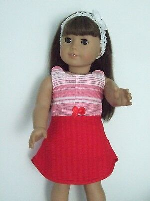 """Dolls Clothes for 18"""" Our Generation/American Girl / 3pc OUTFIT Red Stripes"""