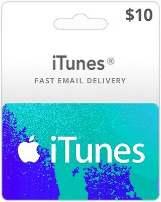 $10 iTunes Card Genuine, Australian Store Only, Music,Movies,Books,Apps and More