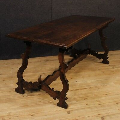 Refectory table furniture Italian wood antique style living room dining room