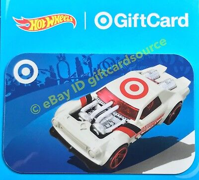 """Target 2018 Gift Card """"Hot Wheels White Car W Logo"""" Collectible No Value New"""