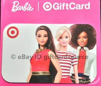 """Target 2018 Gift Card """"Barbie Dolls"""" Collectible No Value New"""