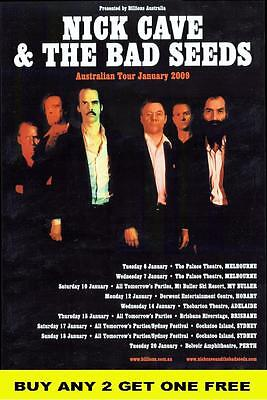 NICK CAVE AND THE BAD SEEDS 2009 Laminated Australian Tour  Poster