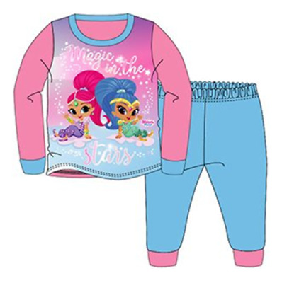 Official Shimmer And Shine Pink Blue Long Sleeve Pyjamas PJs 18m-5yr