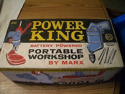 Scarce Marx Power King (10 Tools In One) Battery Op Portable Workshop #1652, Wow
