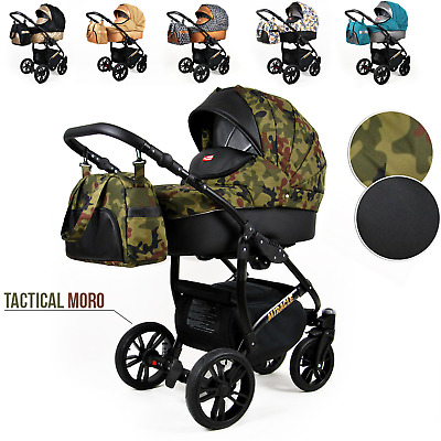 Pram Pushchair Baby Buggy Travel System Car Seat Carrycot Newborns From Birth