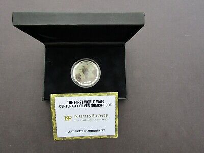 COIN - GREAT BRITAIN - 'THE 1st WW CENTENARY NUMISPROOF' - 2oz SILVER - BOXED