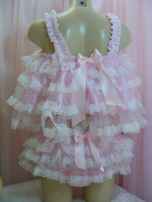 ADULT baby sissy satin babydoll negligee nightie dress camisole lingerie cosplay