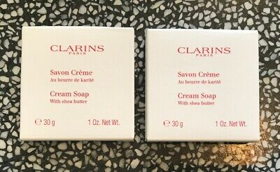"""CLARINS Soap """"cream Soap With Shea butter"""" 30g X2 BRAND NEW BOXED!!"""