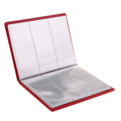 Red Currency Paper Money Collection Album Storage 20 Pages Banknote Holder