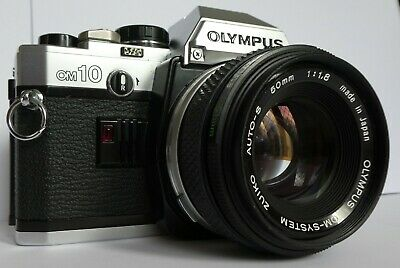 Vintage Olympus OM10 SLR Film Camera with Manual Adaptor, 50mm f1.8 Lens