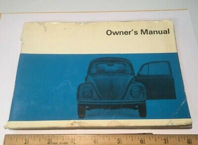 Vintage 1970 Volkswagen Owner's Manual VW Bug Beetle Manual