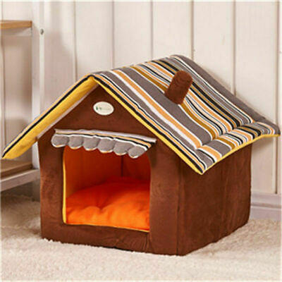 Pet Dog Cat House Kennel Cushion Foldable Nest Bed Pad Soft Mat Puppy Basket New