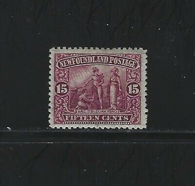 NEWFOUNDLAND - #114 - 15c COLONY SEAL MINT STAMP (1911) MH ROYAL FAMILY