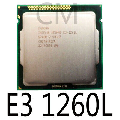 Intel Xeon E3-1260L E3 1260L E3 1260 L 2.4 GHz Quad-Core Eight-Core 45W CPU Processor LGA 1155