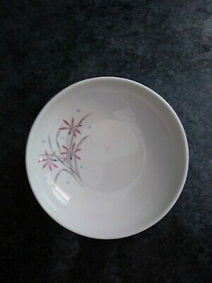 Mid Century Mod VTG Syracuse China Carefree Flame Lily Fruit Bowl Excellent Cond