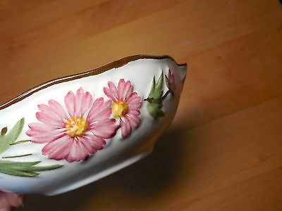 """Stangl NJ USA PINK COSMOS Lugged Fruit Dessert Bowl 5 3/8""""  1 ea  10 available"""