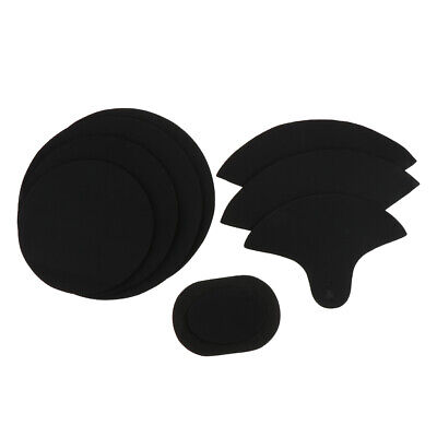 4x Bass Snare Drum Sound off Mute Silencer Drumming Foam Practice Pad Set