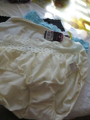 ecd8f088d5c6 OLGA NYLON PANTIES Without a Stitch Lace Hipster White Silky 23167J ...