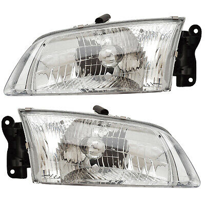 2000 2002 Mazda 626 Driver Penger Side Headlights Lamps Embly Pair Set