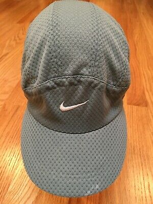 3ca8020b124 RARE 90s Mesh 6 Panel VTG Nike Challenge Court Tennis Hat Cap Running Golf  Blue