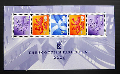 GB 2004 Commemorative Stamps~Scottish Parliament~ M/S~Unmounted Mint Set~UK