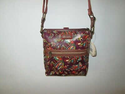 f5ae89163e77 SAKROOTS Artist Circle Mulberry Treehouse Tablet Crossbody Messenger Bag   NWT