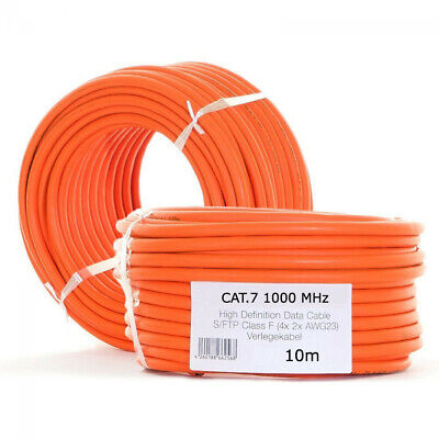 10m CAT 7 Verlegekabel KUPFER Kabel Netzwerkkabel Installationskabel CAT7A